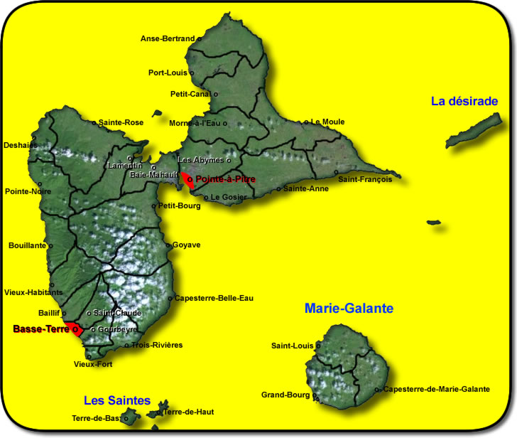 Carte Location Vacances Guadeloupe